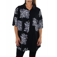 Wild Flower Black COMBO New Tunic Top