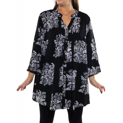 Wild Flower Black Katherine Blouse