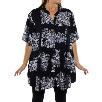 Wild Flower Black Kirsten Blouse