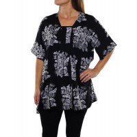 Wild Flower Black Jessica Blouse