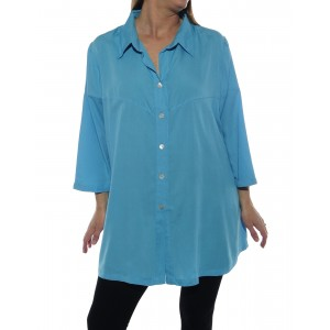 Uptown Blouse -Turquoise