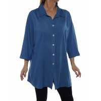 Uptown Blouse -Blue