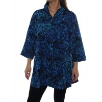 Uptown Blouse -Deep Forest Blue