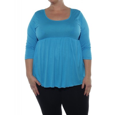 Del Rio Knit Blouse -Turquoise
