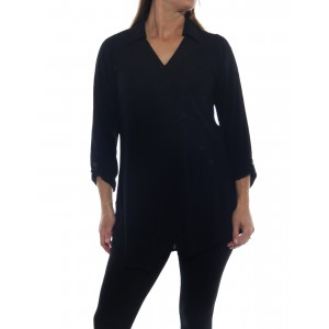 Soho Blouse Solid Black