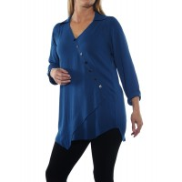 Soho Blouse Solid Teal