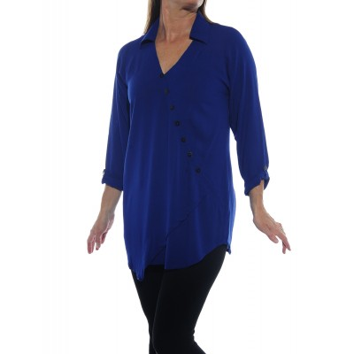 Soho Blouse Solid Dark Blue