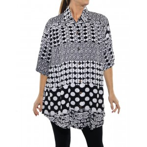 Groove Mix BLACK New Tunic Top