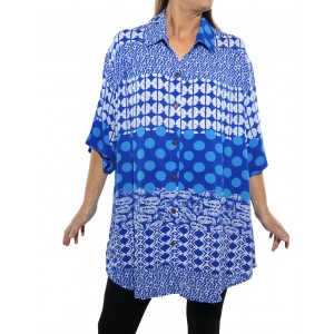 Groove Mix BLUE New Tunic Top