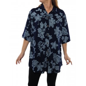 Bombay Navy Blue New Tunic Top