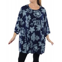 Bombay Navy Blue Swing Top