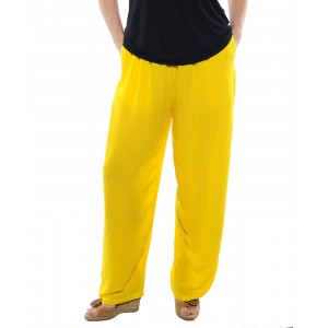 Solid Sunshine Crinkle Rayon Easy Pant