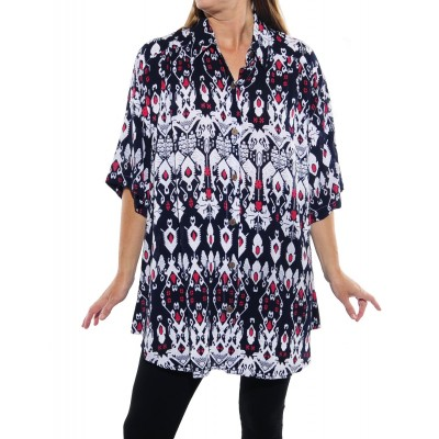 Crown Jewel NAVY New Tunic Top