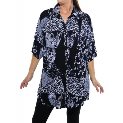 Gypsy Black New Tunic Top