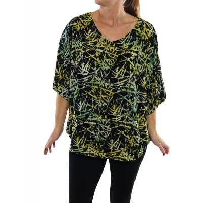Green Bamboo Shell Top