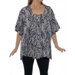 Black White Maxine Blouse T1BW