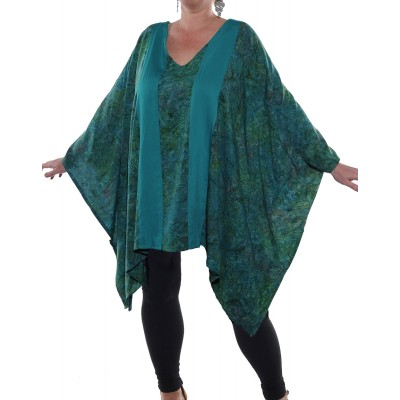 Calypso/Solid Green COMBO West Side Blouse