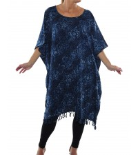 Chicago Blue LONG Caftan Top