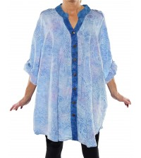 Chicago Ice/Jamaica Blue COMBO Katherine Blouse