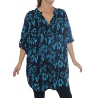 Starry Flower Blue Katherine Blouse