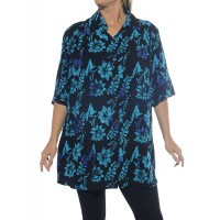Starry Flower Blue New Tunic Top