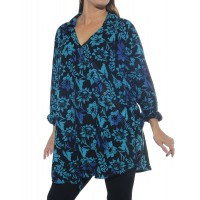 Starry Flower Blue Soho Blouse
