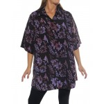 Starry Flower Purple New Tunic Top