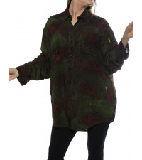 Cool Green, Bromo Black COMBO Long Sleeve Big Shirt