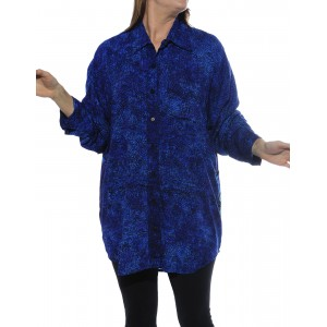 Prism Blue, Blue Lagoon COMBO Long Sleeve Big Shirt