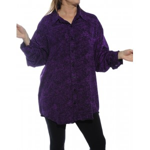 Prism Purple, Starry Flower Purple COMBO Long Sleeve Big Shirt