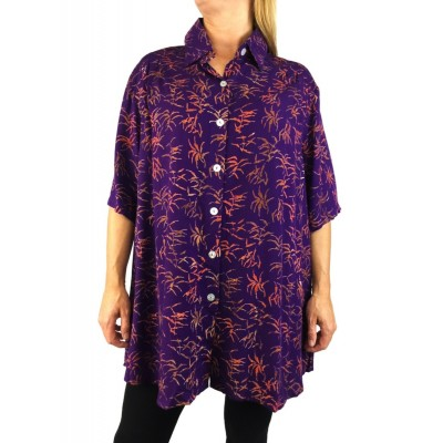 Purple Vine New Tunic Top
