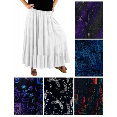 ALL PRINT Tiered Skirt-Pick your print(B)