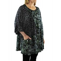 Java Swirl Artist Pocket Swing Top -Voile