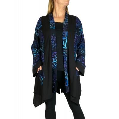 Women's Plus Size Jacket  Aztec Blue Broadway