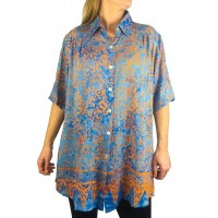 Batik Lighter-Weighted-Gauzy-Bali Sunrise New Tunic