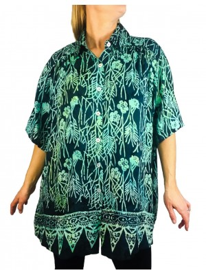 Batik Lighter-Weighted-Gauzy-Emerald Bay Tunic Top