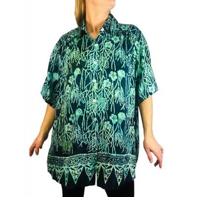 Women's Plus Size Tunic - Light Weight Rayon Emerald Bay