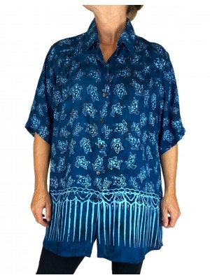 Batik Lighter-Weighted-Gauzy-Turtle-Bay-New Tunic Top