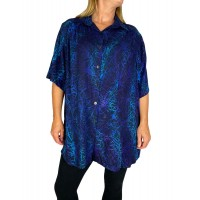 Black Blue Coral New Tunic Top