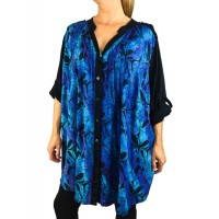 Blue Monarch Combo Katherine Blouse