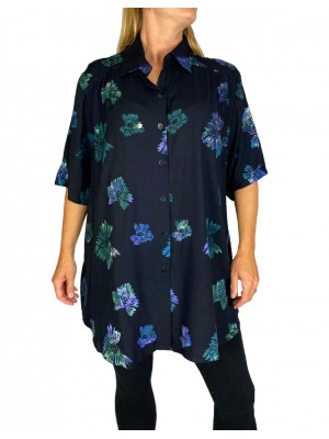 Blue Butterfly New Tunic Top