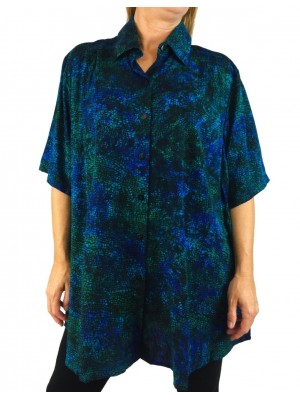 Blue Mosaic New Tunic Top