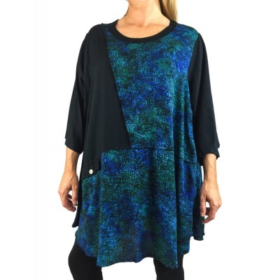 Blue Mosaic Combo Artist Pocket Swing Top