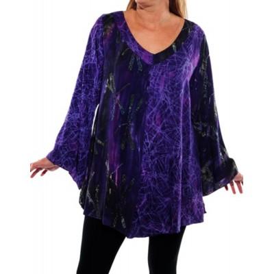 Women's Plus Size Blouse- Brazil Top Purple COMBO