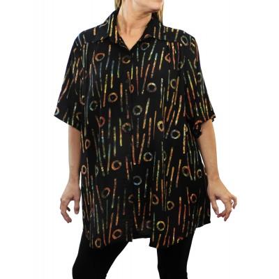 Women's Plus Size Tunic -Bromo Black