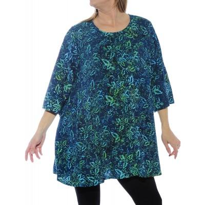 Women's Plus Size Blouse - Napali Swing Top