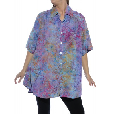 Dancing Sage Batik New Tunic Top