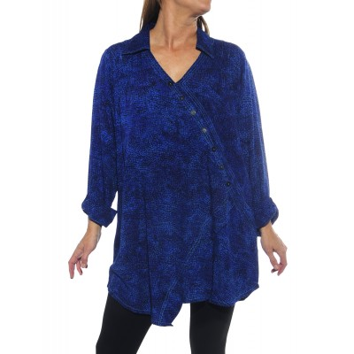 Prism Blue Soho Blouse
