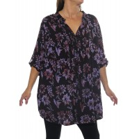 Starry Flower Purple Katherine Blouse