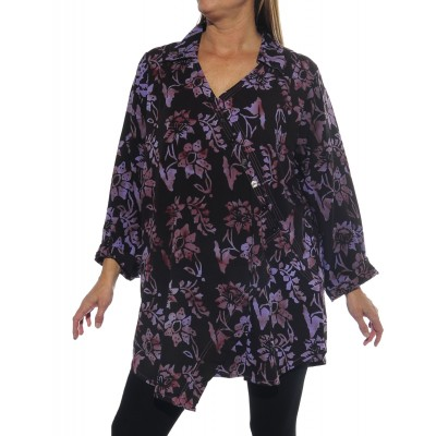 Starry Flower Purple Soho Blouse